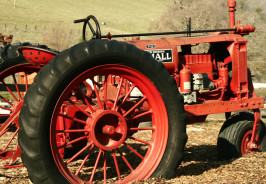 Red Farm-All Tractor in field