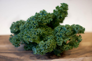 single bunch of delicious kale
