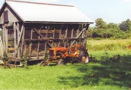 HoneyHill Organic Farm Old Tractor