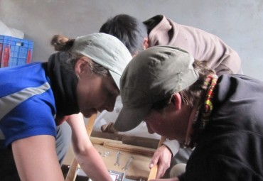 Jennifer and Leslie Assemble a Tillie from Carts and Tools