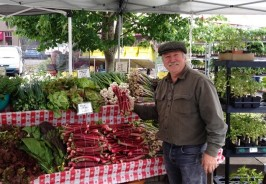 Michael McGowen at the Corvallis Farmers Market Community Table