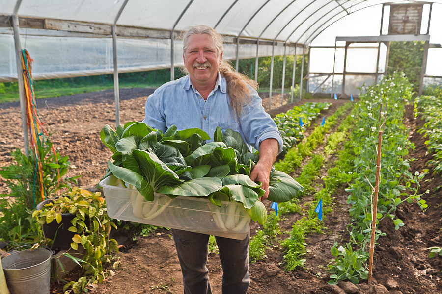 Michael McGowen Carts and Tools Founder in his greenhouse