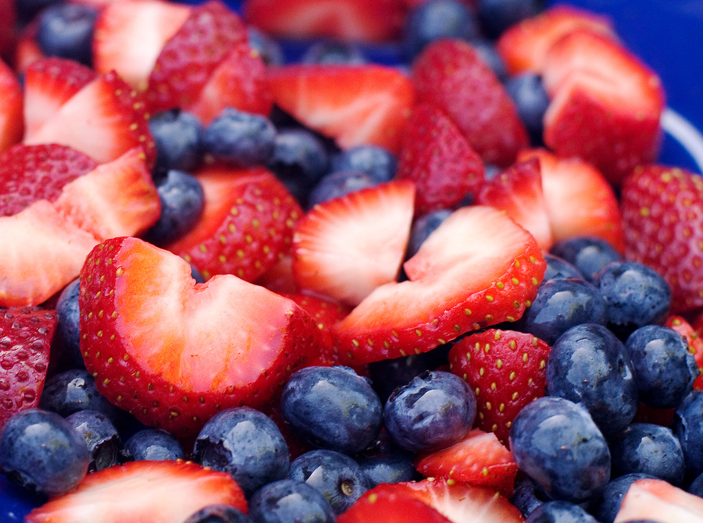 Eye Catching Blueberries and Strawberries