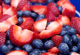 Eye Catching Strawberries and Blueberries