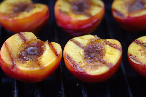 Yellow and Brown Seared Yummy Peaches