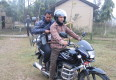 Tillie in Nepal - Global Nutrition Empowerment - Carts and Tools - On the Motorcycle