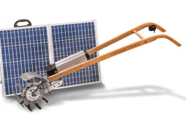 Tillie with Offset Head and Solar Panel Carts and Tools